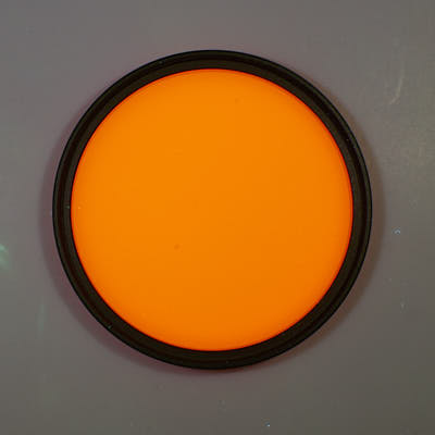 Fluorescence of glass filters