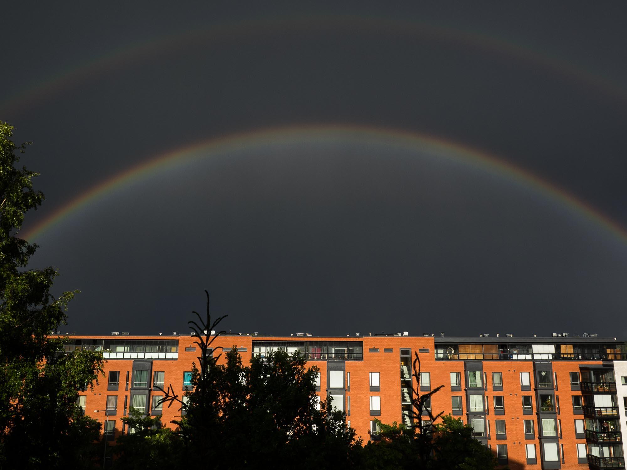 Rainbow in Viikki, Helsinki