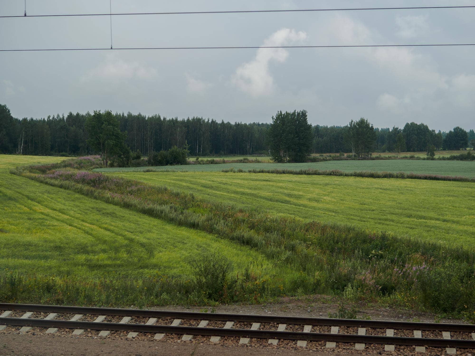 Joensuu-Helsinki from trains