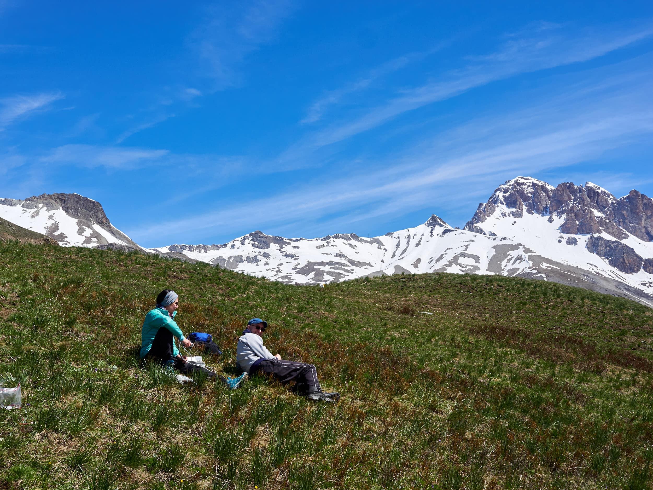 Measuring campaign in the Alps